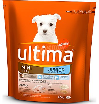 Ultima Affinity Dog mini junior paquete 800 g