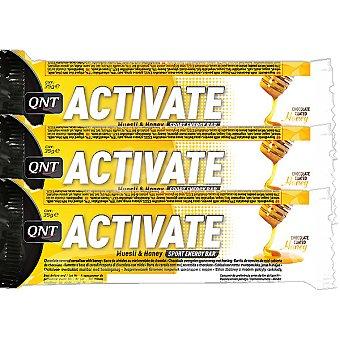 QNT ACTIVATE Barrita energética sabor miel pack 3x35 g estuche 105 g Pack 3x35 g