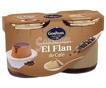 Goshua Flan de café elaborado con leche fresca y caramelo 2 x 125 g