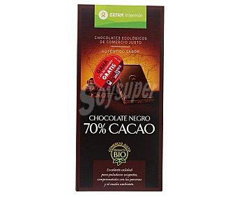 Intermón Oxfam Chocolate 70% Cacao Negro 100 Gramos