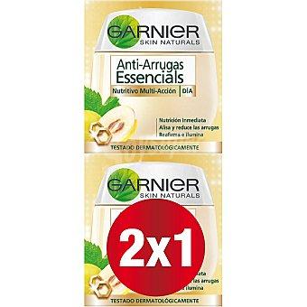 Skin Naturals Garnier crema de día anti-arrugas nutritiva multi-acción 50 m (pack especial 2x1) pack 2 tarro