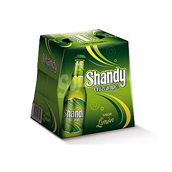 Shandy Cruzcampo cerveza sabor limón  pack 6 botella 25 cl