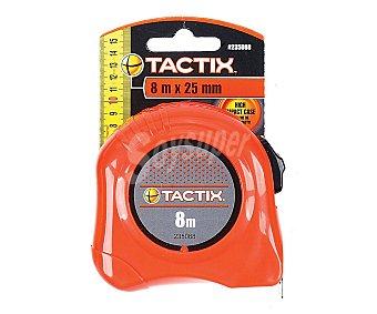 Tactix Flexometro con Bloqueo y Caja Fabricada en ABS, 8 Metros 1 Unidad