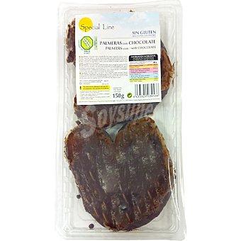 Special Line Palmeras con chocolate sin gluten Envase 150 g