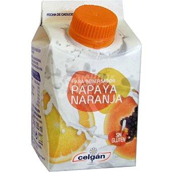 Celgán Yogur liquido sabor papaya naranja envase 250 ml Envase 250 ml