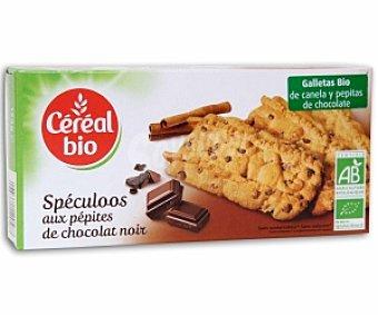 CEREAL BIO Galletas de canela con pepitas de chocolate de cultivo ecológico 125 gramos