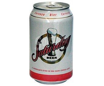 SATURDAY Cerveza Lata de 33 Centilítros