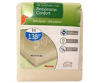AUCHAN Funda de colchón rizo antibacterias, 135 centímetros 1 Unidad