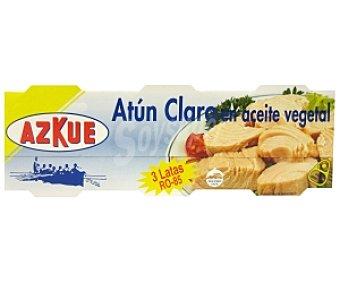 Azkue Atún en Aceite Vegetal Claro Pack 3 Unidades de 50 Gramos