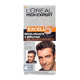 L'Oréal Tinte coloracion tono sobre tono hombre Nº 04 castaño oscuro excell 5 (peine aplicador) u