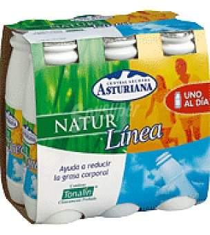 Central Lechera Asturiana Yogur líquido natural 'natur Línea' Pack de 6 ud