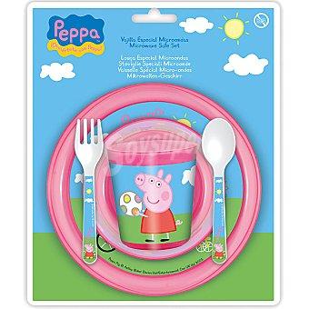 STOR Vajilla de 5 piezas de Peppa Pig para microondas