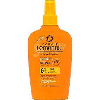 Ecran Lemonoil leche solar zanahoria FP-6 spray 200 ml