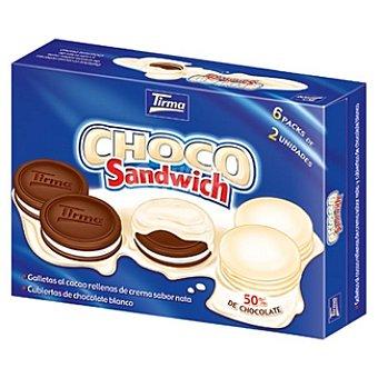 Tirma Sándwich de galletas de chocolate rellenas de nata y recubiertas de chocolate blanco Paquete 272 g