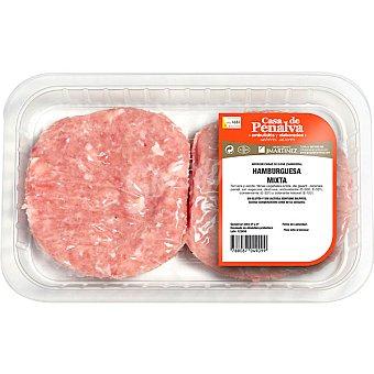 CASA DE PENALVA Hamburguesas mixtas de pollo y cerdo bandeja 370 g 4 unidades