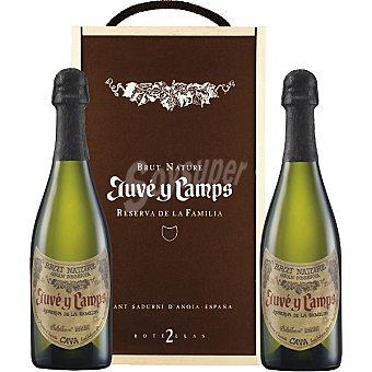 JUVE & CAMPS Reserva de La Familia Cava brut nature Gran reserva Estuche 2 botellas 75 cl