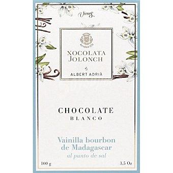 Jolonch Chocolate blanco con vanilla bourbon de Madagascar al punto de sal Tableta 100 g