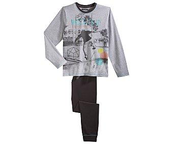 In Extenso Pijama largo para niño, color gris, talla 10