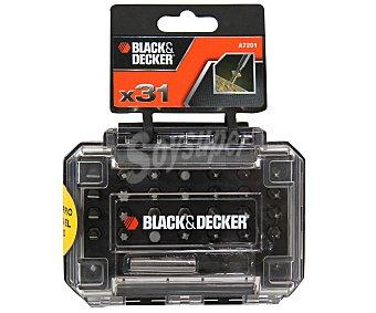 Black&Decker Lote de 31 Puntas para Atornillador Manual o Eléctrico 1 Unidad