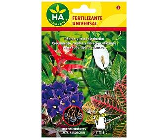 HA-Huerto y Jardín Fertilizante soluble Universal, sobre para preparar 5 Litros 20 Gramos