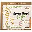 Jalea Real Light apta para diabéticos, con fósforo y 6 vitaminas, 12 Dósis Vive+