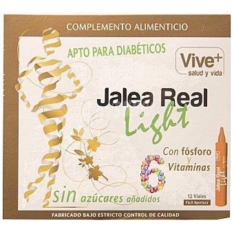 Viveplus Jalea Real Light apta para diabéticos, con fósforo y 6 vitaminas, 12 Dósis