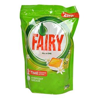Fairy Lavavajillas maquina sin fosfatos naranja Bolsa 60 dosis