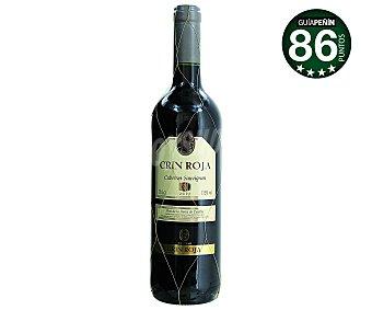 CRIN ROJA Vino tinto cabernet con denominación de origen La Mancha Botella de 75 centilitros