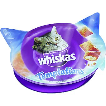 Whiskas Temptations snacks para gato de salmon Envase 60 g