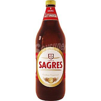 Sagres Cerveza rubia portuguesa Botella 1 l