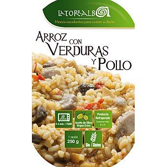 La Torralba Arroz con verduras y pollo refrigerado Envase 250 g