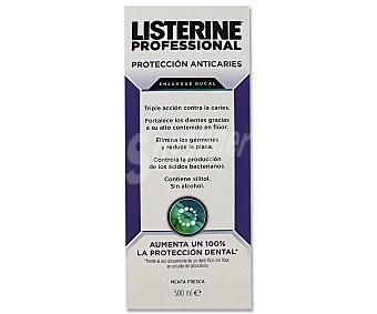 Listerine Enjuague bucal profesional anticaries 500 mililitros