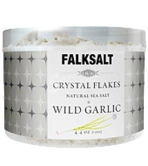 Flaksalt Escamas de sal de ajo silvestre 125 g