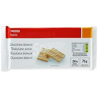 Eroski Basic Chocolate blanco Tableta 75 g