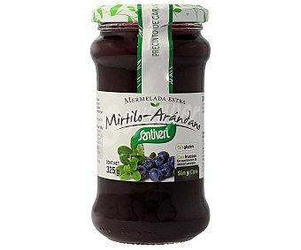 SANTIVERI Mermelada de mirtilo y arándano con fructosa 325 gramos