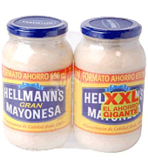 Hellmann's Mayonesa pack de 2x650 ml