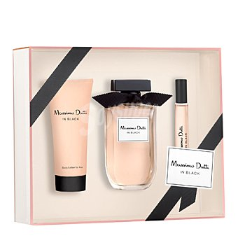 Massimo Dutti Estuche colonia In Black + body lotion 100 ml. + colonia  15 ml. spray 80 ml.