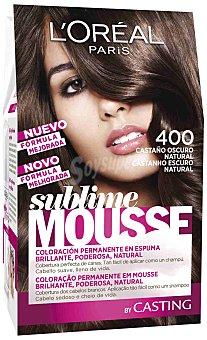 Sublime L'Oréal Paris Tinte castaño oscuro N.400 Caja 1 unid
