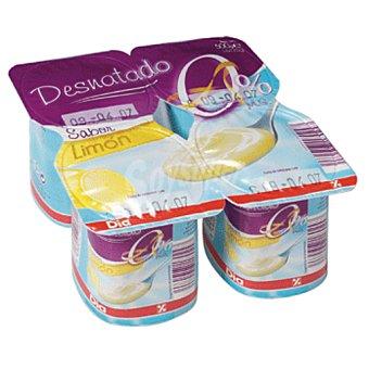 DIA yogur limon desnatado pack 4 unidades 125 g