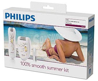 PHILIPS HP 6540/00 SATINELLE, Set de depilación depiladora uso con cable, minidepiladora sin cable para zonas de precisión y pinzas