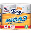 Papel higiénico 4 unidades FOXY Mega 3
