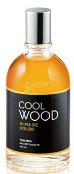 COOL WOOD Eau toilette hombre aroma alma de color con vaporizador (amarillo) Botella 100 cc