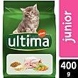 Alimento para gatos junior rico en pollo y arroz Bolsa 400 gr Ultima Affinity