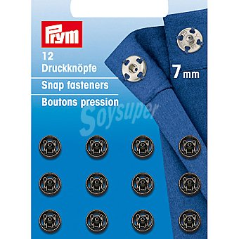 PRYM Estuche 12 broches de presion en color negro de 7 mm