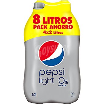 PEPSI light pack 4 botella 2,25 l
