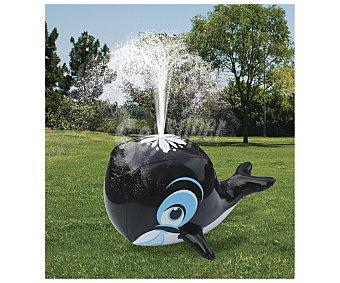 Euraspa Ballena hinchable, que incorpora una conexión para manguera que permite que el agua salga por el orificio superior de la misma en forma de surtidor, medidas 33x28x18 centímetros 1 unidad