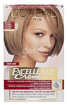 L'Oréal Paris Coloración Permanente nº 8 Rubio Claro de Excellence 1 ud