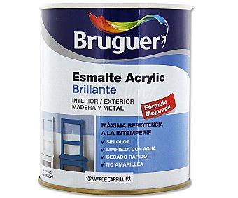 BRUGUER Esmalte acrílico sintético, de color verde y acabado brillante 0,75 litros