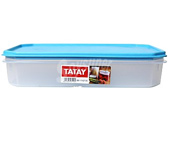 TATAY Tupper cuadrado de plásitco apto para lavavajillas y microondas, 2,1 litros 1 Unidad