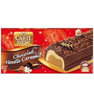 Carte D'Or Frigo Tronco de navidad de chocolate, vainilla y caramelo 565 g